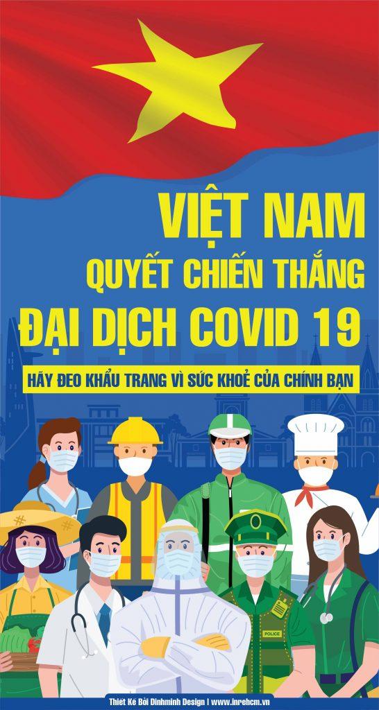 Poster tuyên truyền về dịch Covid 19 vector