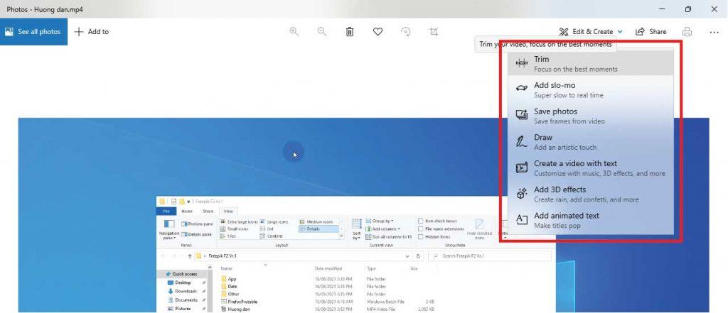 Cắt video không cần phần mềm trên windows 10 đơn giản nhất
