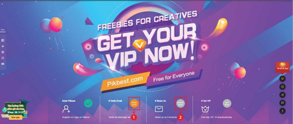 Đăng ký tài khoản Pikbest Premium miễn phí-02