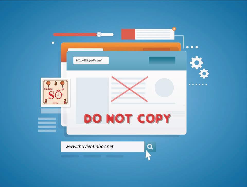 Copy nội dung của một website không cho Copy