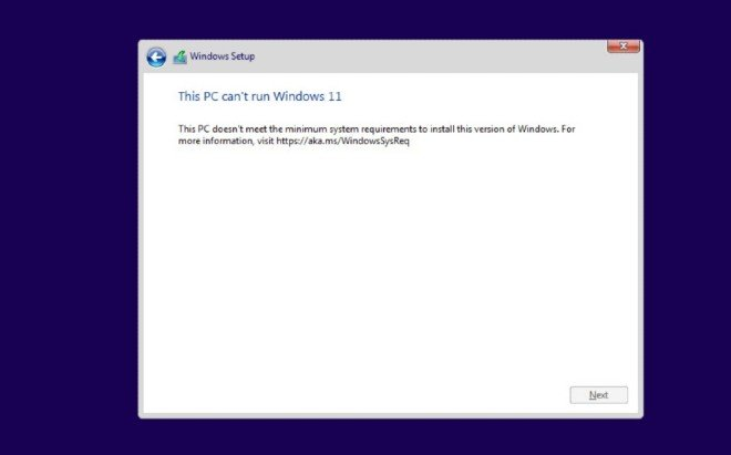 bỏ qua yêu cầu TPM 2.0 khi cài Windows 11