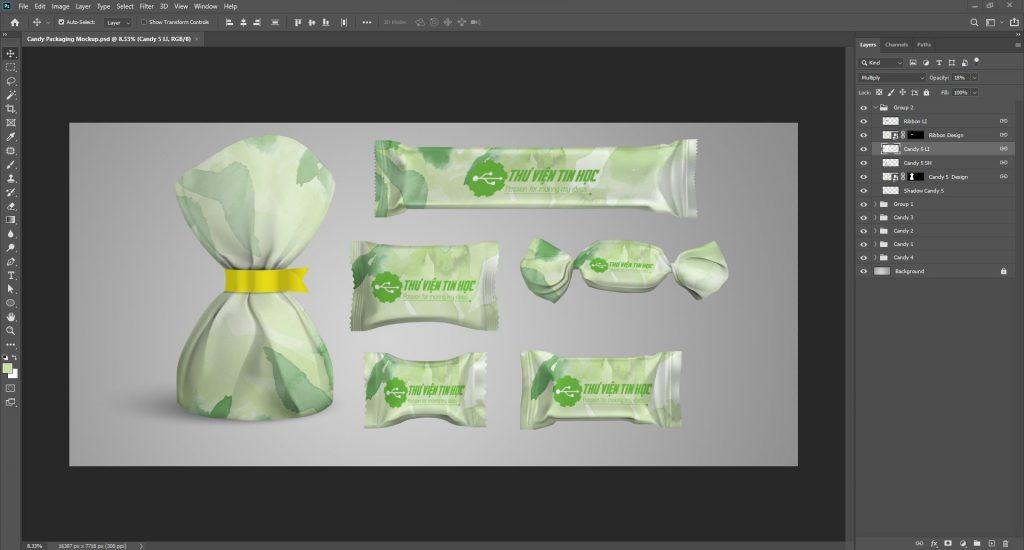 Candy Packaging free Mockup Mockup bao bì bánh kẹo miễn phí