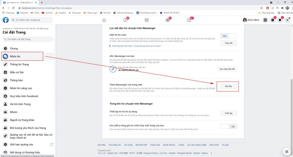 Chèn Chat Facebook vào Website bằng Plugin chat 2021 của Facebook-01